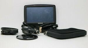 """TomTom GPS Navigation System Model 4EF00 5"""" Screen + Cable Bundle Tested Works"""