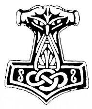 Autoaufkleber - Thorhammer 3 (Weiß)