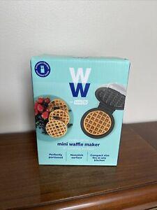 "WW Single Serve Mini Nonstick Dash Waffle Iron - Makes 4"" Waffles - New In Box"