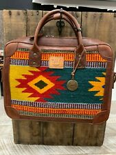 Will Leather Goods Green Diamond Oaxacan Briefcase  NWT