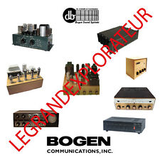 Ultimate Bogen David Bogen Repair Service Manual Schematics   500 manuals on DVD