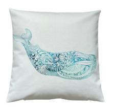 *SALE* Marine Whale - 40cm Ivory cushion cover coastal nautical