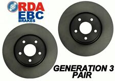 Nissan 370Z 2008 Onwards Front BREMBO Disc Brake Rotors NEW PAIR with WARRANTY