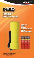 Garrity 9 LED Flashlight + 3 AAA Batteries, Colors May Vary