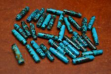 "30 PCS AQUA BLUE TUBE BUFFALO BONE BEADING BEADS 1"" #T-1725A"