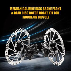 2pcs Bicycle Disc Brake Front Rear Disc 160 mm Rotor Brake Kit For Mountain Bike
