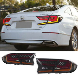 New For Honda Accord Tail lights Assembly 2018-2021 Black Color LED Rear Lamps