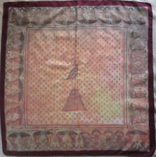 -Grand Foulard CENTO GROUP  soie TBEG  vintage 95 x 100 cm