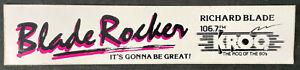 "KROQ Richard Blade ""Blade Rocker"" ""Roq Of The 80s"" Slim Bumper Sticker 12"" Large"