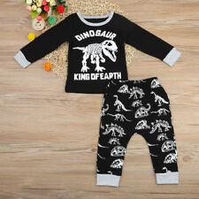 2PCS Newborn Toddler Baby Boys Tops T-shirt+Long Pants Casual Outfit Clothes Set