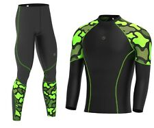 Mens Compression Base layer Full Sleeve  Skin Top & Long Running tight Gym pants