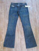 """24 """" Womens Jeans Sz 0 California Lifestyle 575 Frank Mechaly dark wash Denim"""