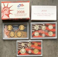 USA 2008 SILBER Proof Set San Francisco PP State Quarter President. Dol. 1c-$1