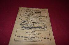 John Deere E Et Manure Spreader Operator's Manual Dcpa3
