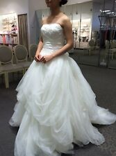 White by Vera Wang Strapless Tulle style wedding dress size 0 unaltered Ivory