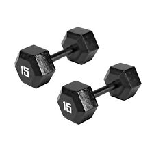 c4f536865d8 Marcy Pro TSA Hex 15 Pound Eco Friendly Iron Free Weight Dumbbell (2 Pack)