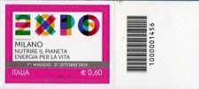1456 CODICE A BARRE LATO DI SOPRA EXPO MILANO 0.60 ANNO 2012