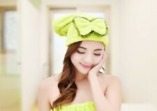 Womens Lady Microfiber Dry Turban Wrapped Bath Towel Hair Towel Shower Cap Hat