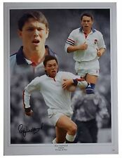 Rory Underwood signé autographe 16x12 énorme photo England Rugby Union L'Association AFTAL COA