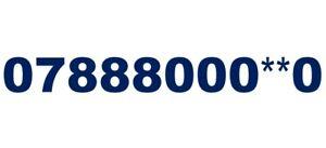 888 000 GOLD VIP EASY REMEMBER MOBILE NUMBER MEMORABLE SIM 888000 078880004*0