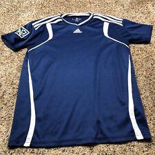 Adidas MLS soccer shirt plain blue size XL short sleeve