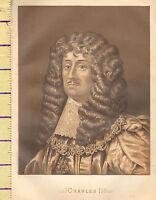 C1860 Victoriano Estampado ~ Carlos II