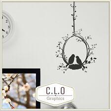 Birds in Hanging Flower Wall Sticker Home Vinyl Transfer Art Decal Home Decor Uk