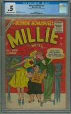 Millie The Model #62 CGC .5 --DAN DE CARLO COVER AND ART-- STAN LEE Atlas 9/1955