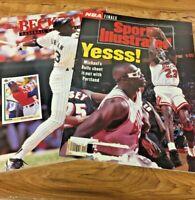Vintage 2 Michael Jordan Baseball, baskball Magazine Sports Illustrated Beckett