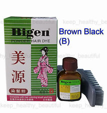 Japan made Bigen Powder Hair Dye 6g Brown Black (B) FREE POST