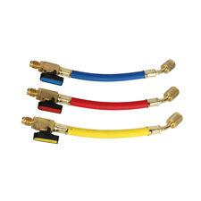 3pcs Manifold Gauge Ac Refrigeration Charging Hoses For R134a R410a R12