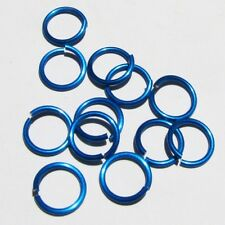BLUE Anodized Aluminum JUMP RINGS 200 3/8 16g SAW CUT Chainmail chain mail