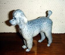 Grey POODLE by Jeanne Grut for ROYAL COPENHAGEN Denmark. No. 4757 Fact. First