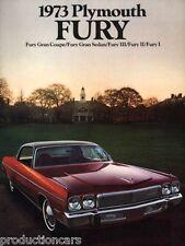 1973 Plymouth Fury 20-page Original Car Sales Brochure - Gran Coupe II III