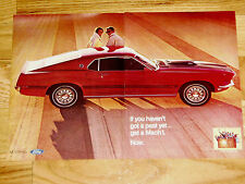 1969 FORD MUSTANG MACH 1 ORIGINAL AD *302/351/428/429/V8 engine/door/hood/bumper