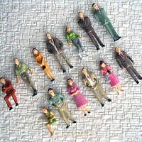 130 pcs O Gauge 1:48 Painted Figures 13 different poses People Passengers #F