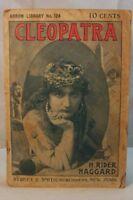 ANTIQUE OLD BOOK CLEOPATRA  H RIDER HAGGARD ARROW 124