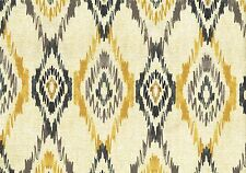 Mill Creek Fabric Beige Gray Black Gold Geometric Print   Drapery Upholstery
