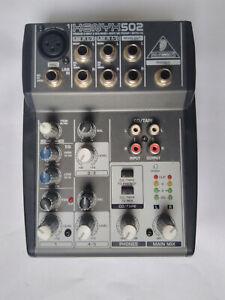 Behringer - xenyx 502 mixer (5-input, 2-bus, phantom power) used boxed