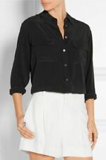 Equipment washed black silk Shirt Size Small