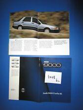 N°4008 bis /  SAAB 9000 turbo 16 : gros catalogue en français 1985