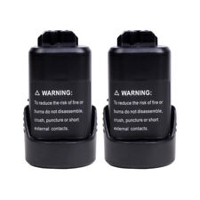 2PCS 12VOLT Li-ion Battery for Bosch BAT411 2000mAh BAT411A BAT412 BAT413 PS30