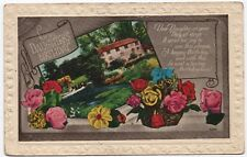 Birthday postcard for a daughter - roses, scene