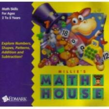 Millie's Math House PC MAC CD learn sizes numbers geometric shapes with animals!