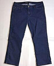 Michael Kors Womens Cropped Capri Blue Jean Size 6 Dark Denim Stretch