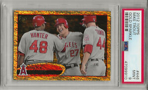 2012 TOPPS  #446  MIKE TROUT,  PSA 9 MINT, GOLD SPARKLE, RARE, L@@K !