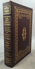 Easton Press The First American Life and Times of  Benjamin Franklin Leather