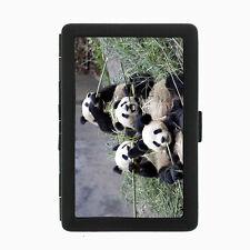 Panda Cigarette Case D3 Metal Wallet Giant Bear Black and White Cute Fluffy Rare