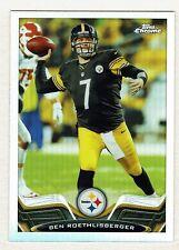 2013 Topps Chrome Football #52 Ben Roethlisberger Refractor Steelers NMT