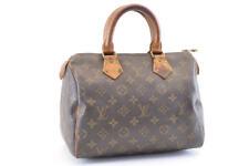 LOUIS VUITTON Monogram Speedy 25 Hand Bag M41528 LV  3378